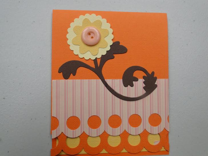 Tarjeta fiesta de papel julio puede servirles como idea para el día de la madre.