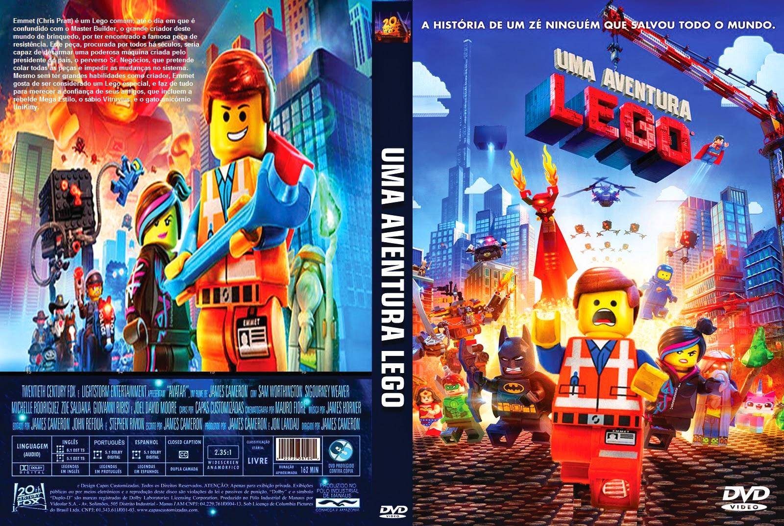 CAPAS de DVDs Buiu de Jesus: UMA AVENTURA LEGO
