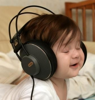Listen Music on Cute Baby Listen To Music Jpg