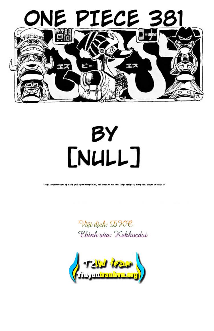 One Piece - Đảo Hải Tặc chap 381 page 19 - IZTruyenTranh.com