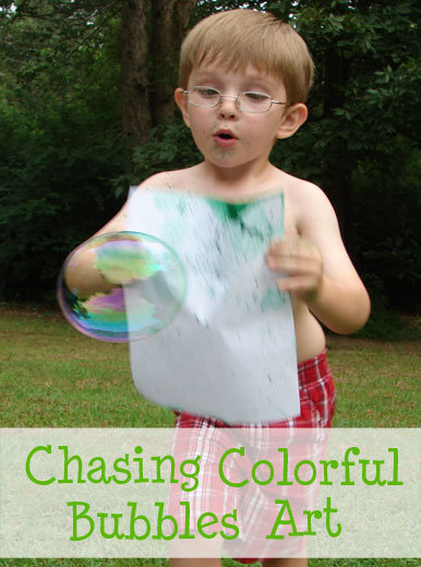 Chase colored bubbles to make art
