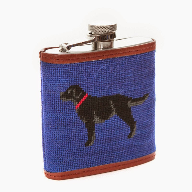 Smathers and Branson needlepoint flask