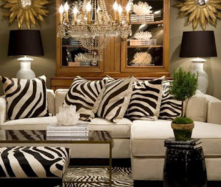 decoracion animal print sala