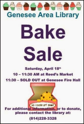 4-18 Bake Sale at Genesee Library