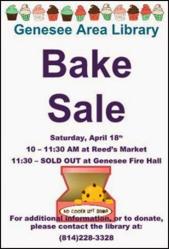4-18 Bake Sale at Genesee Library