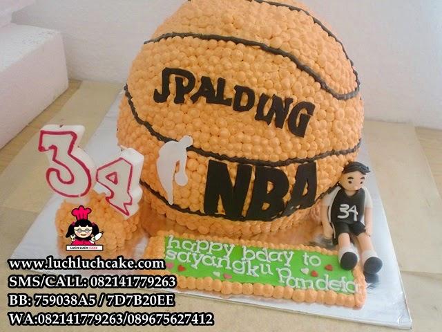 Kue Tart 3D Basket NBA Spalding Daerah Surabaya - Sidoarjo