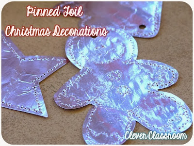 Pinned Foil Christmas Decorations - Christmas Craft