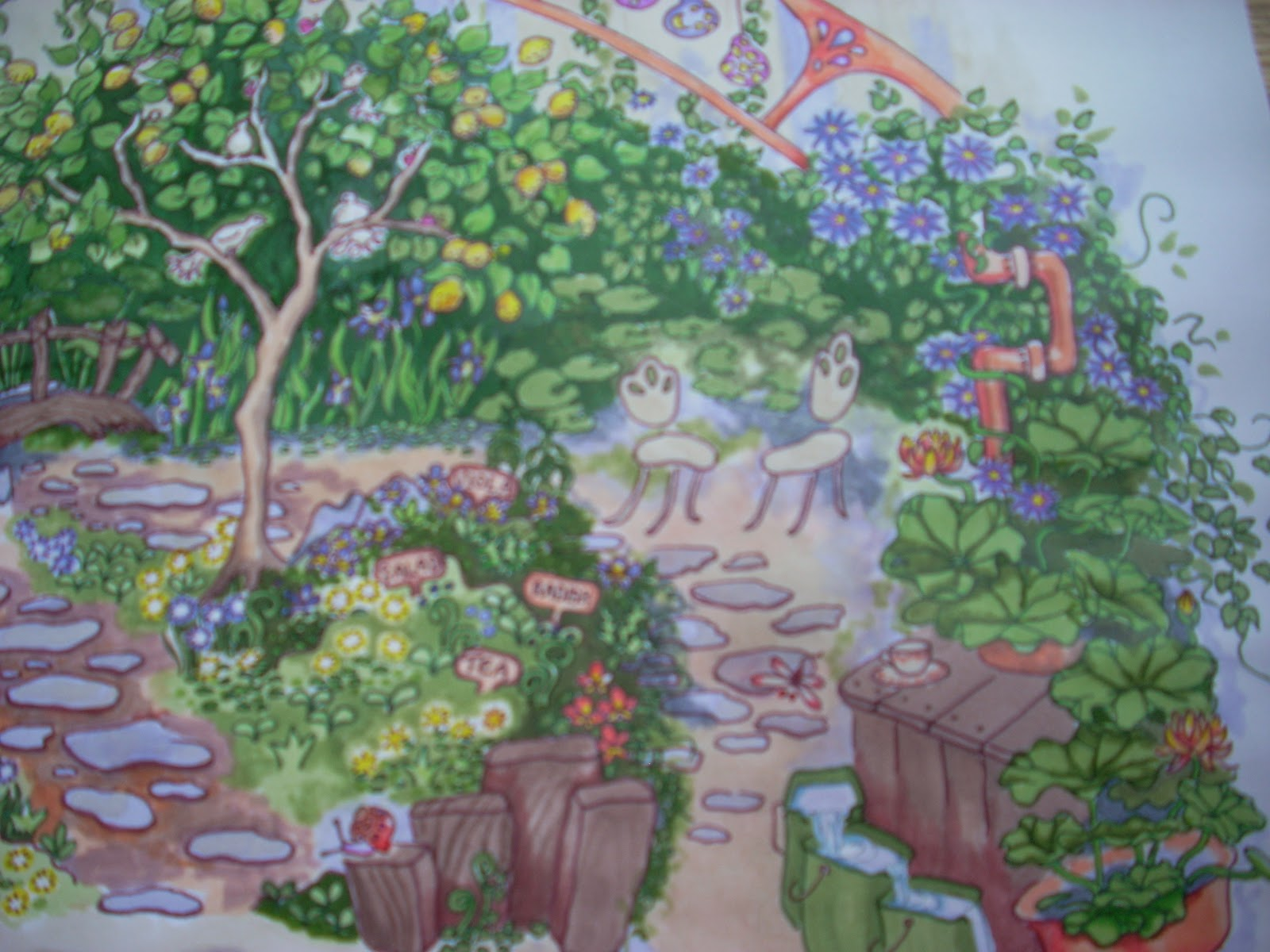 Garden drawing pictures - Drawing Plants Amp Flowers How To Draw A Garden Picture