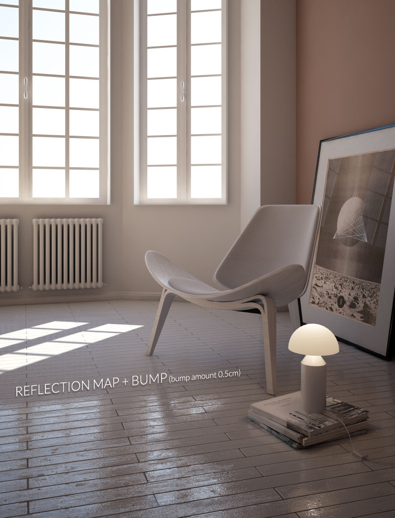 bump materiali vray pavimento in legno