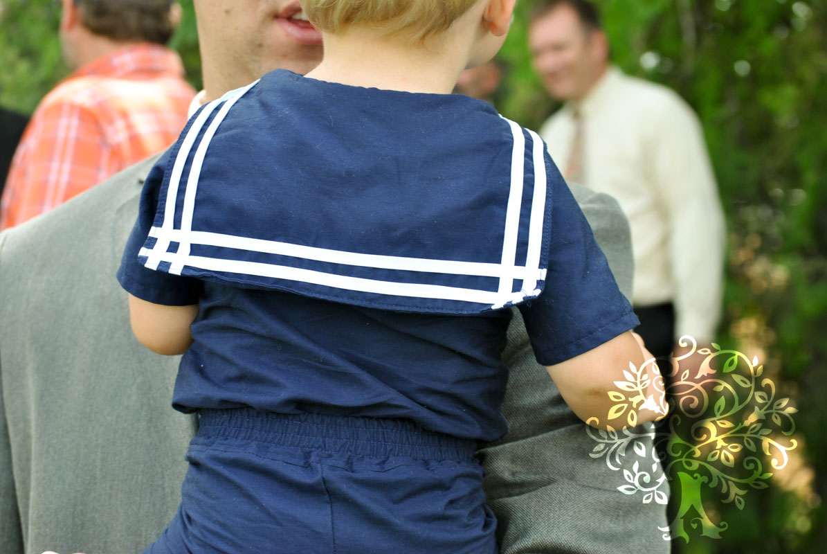 How to sew a sailor suit for a boy with his own hands 83