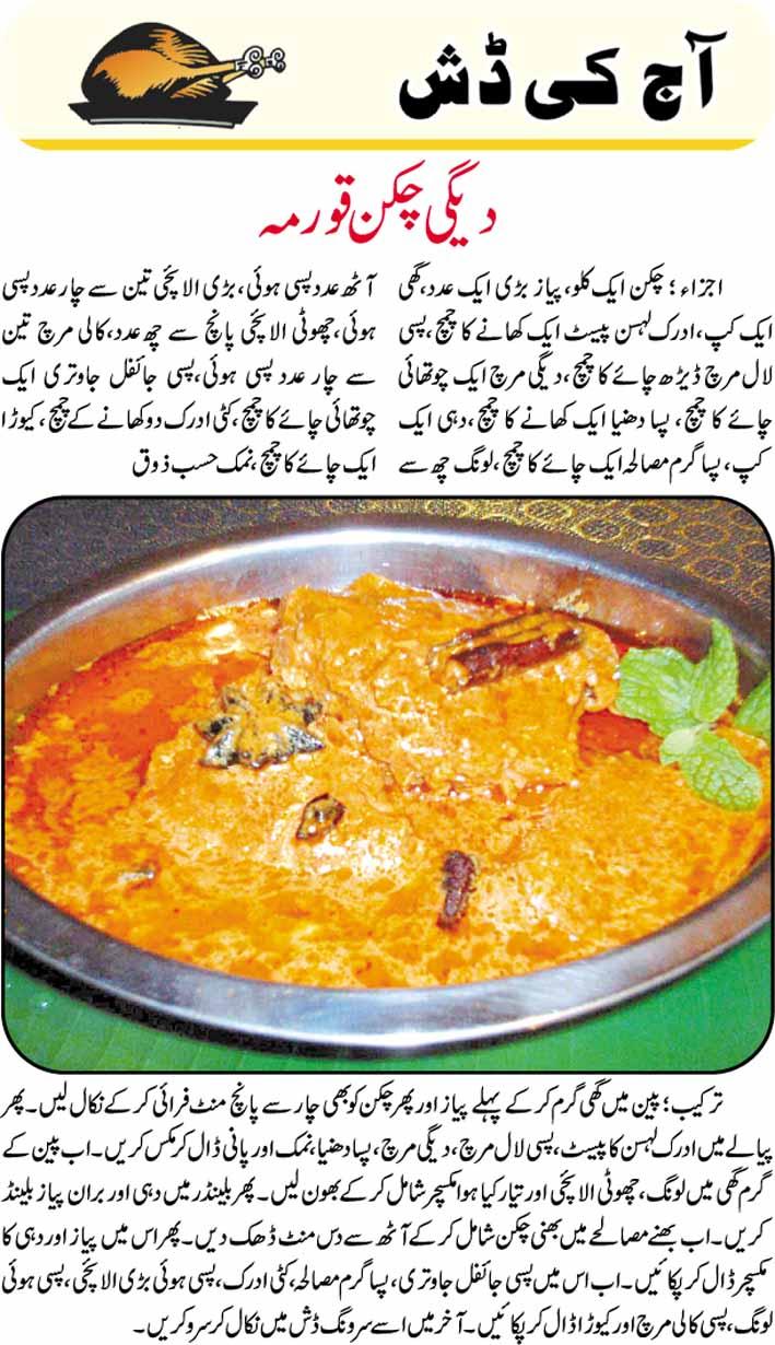 Degi Chicken Korma Recipe In Urdu