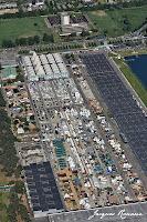 vue aerienne du parc des expositions de Bordeaux Lac à l'occasion de la foire internationale 2012
