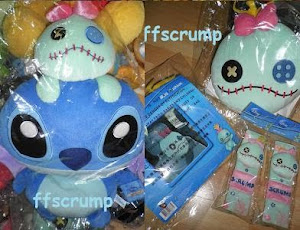 HK Trendyland Stitch / Scrump Cushion / Seat belt Holder