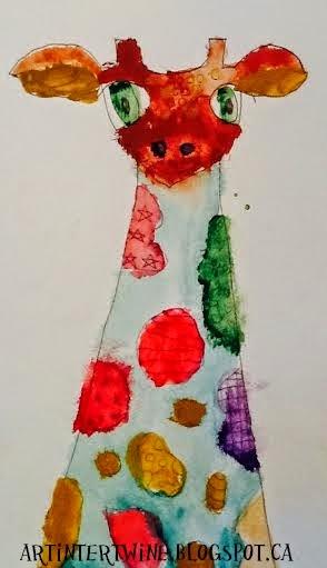Watercolor art activity for kids
