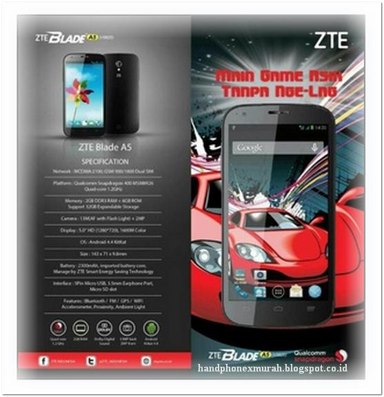 ZTE Blade A5 - HP 4G 1 Jutaan Ram 2GB Kamera 13MP