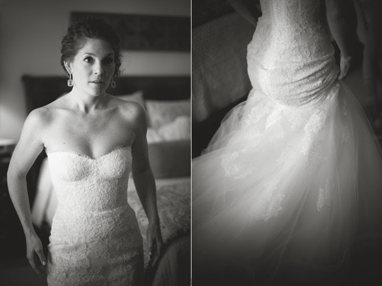bride walking away in her Monique Lhuillier wedding gown