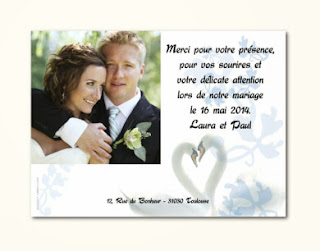 Idee carte remerciement mariage