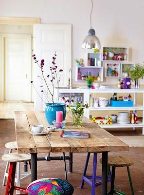 Mesa madeira reciclada - decoração eco friendly