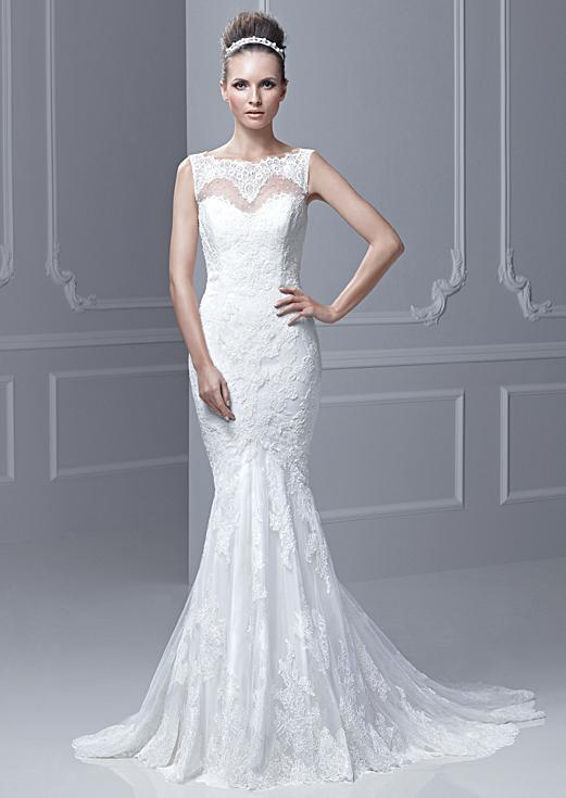 Lace Sweetheart Backless Mermaid Wedding Dress