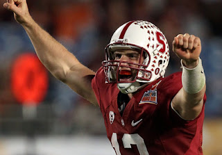 Conveniently, Andrew Luck already looks good in red and white