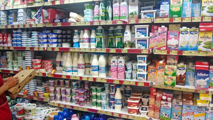 Молочные продукты в «Voli» в Петроваце