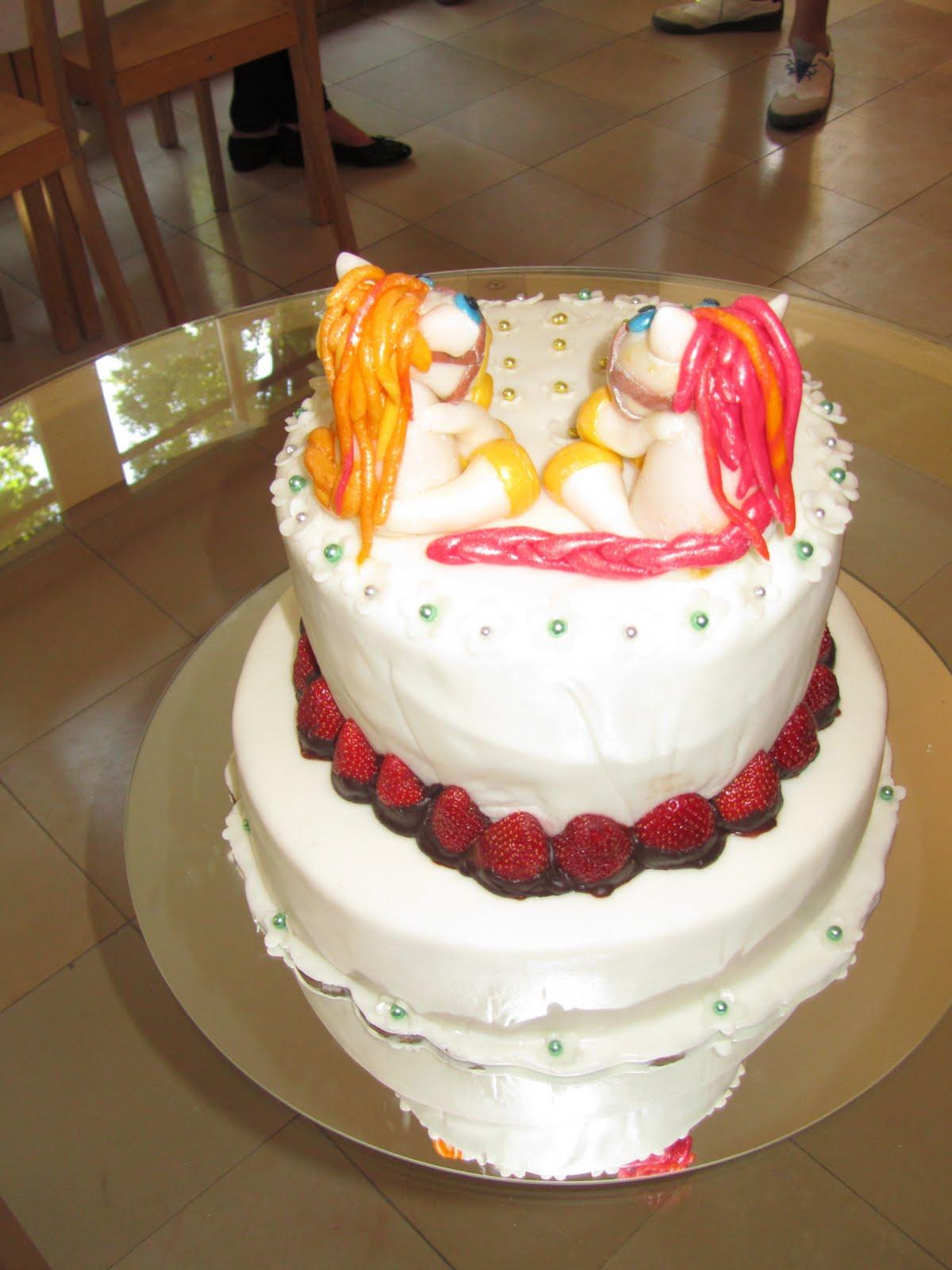 YummySlice Cakes: Elegant Pony Birthday Cake