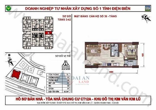 Căn 36 - Tòa CT12A Chung Cư Kim Văn Kim Lũ