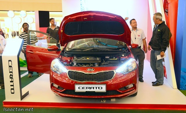 One of the many Kia models on display at KLCC, the Kia Cerato