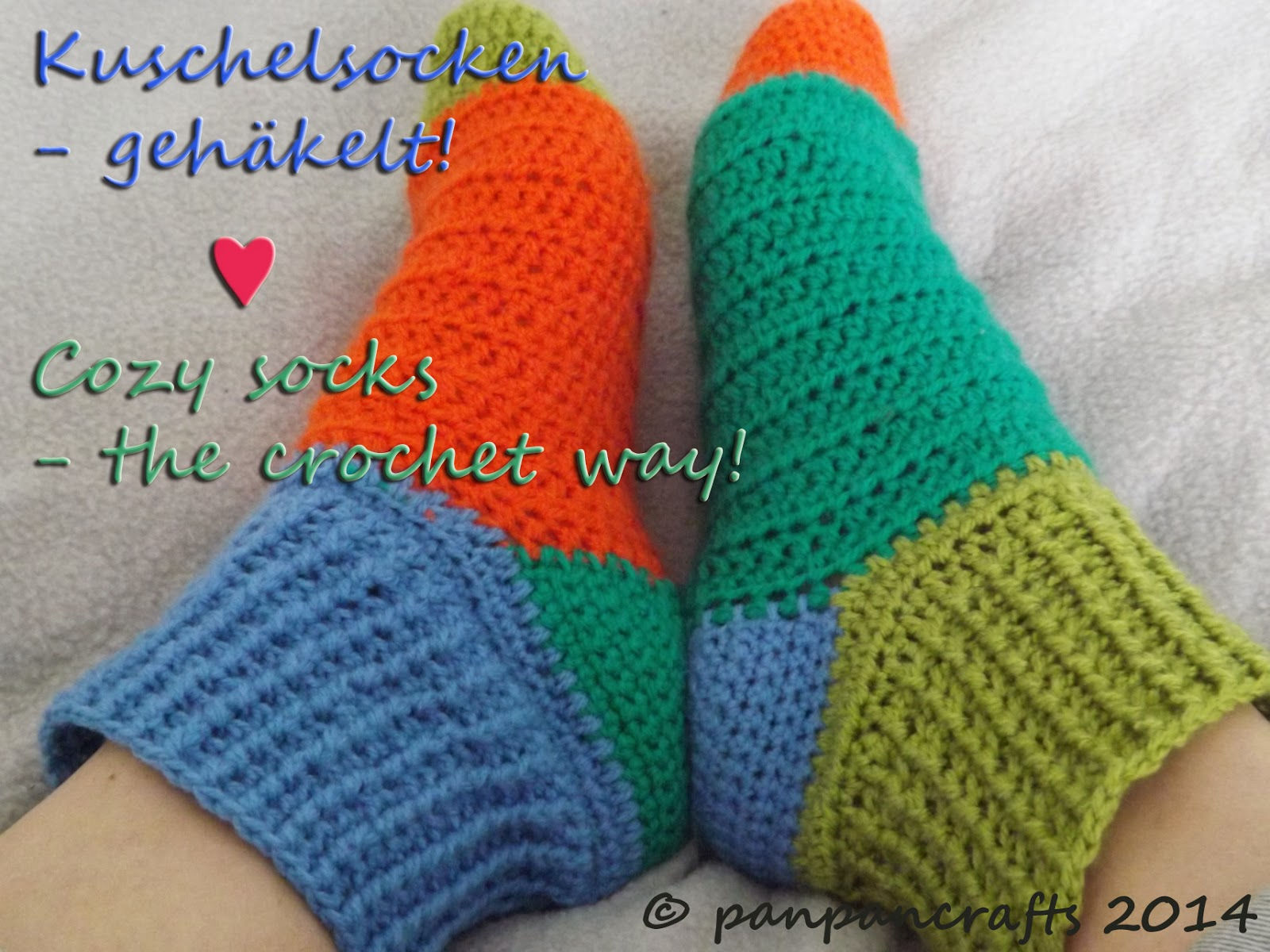 crochet cozy socks http://panpancrafts.blogspot.de/