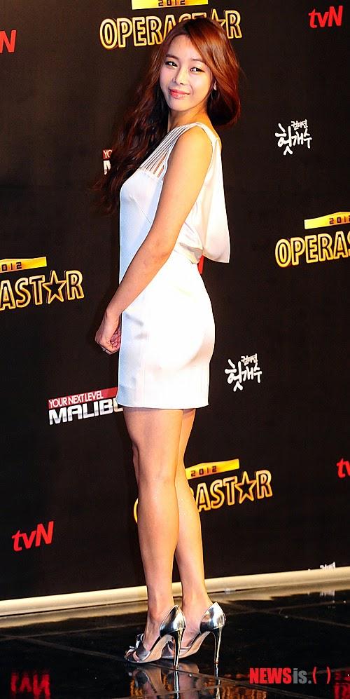 Park Ji Yoon (박지윤, 樸志胤 pǔ zhì yìn) - 'Opera Star 2012' production conference held at Seoul Mapo CJ E & M Center in Sangam-dong on 01 February 2012