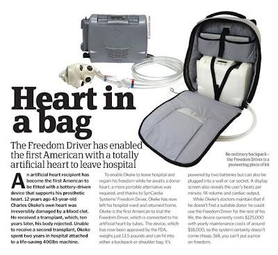 Charles Okeke's heart in a bag