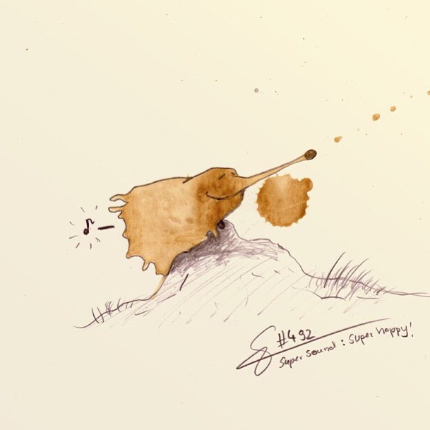 24-Super-Sound-Stefan-Kuhnigk-Monster-Drawings-within-Coffee-Stains-www-designstack-co