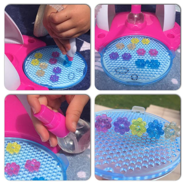 Four year old making pretty bracelets with Beados Gem Designer Studio