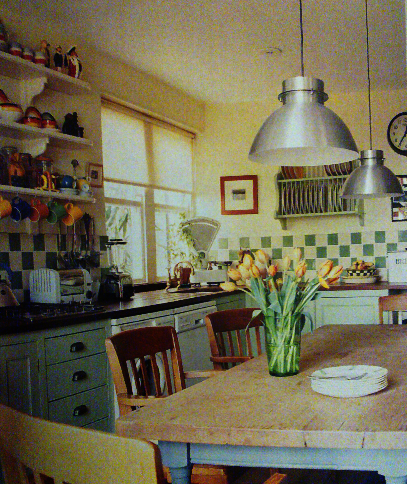 Pandyinteriordesigner kitchen of country style research for Country style kitchen wall tiles