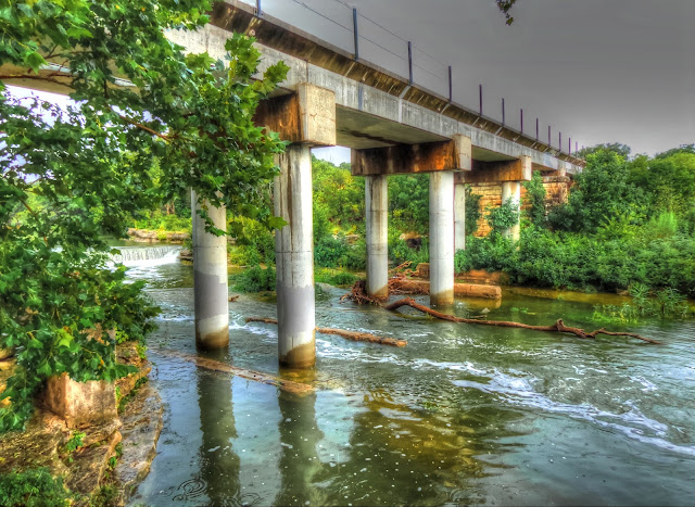 Train Bridge at Chisholm Trail Crossing Park - Round Rock, Texas