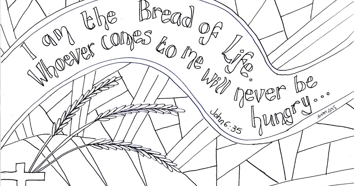 Flame Creative Childrens Ministry I Am The Bread Of Life Reflective Colouring Sheet