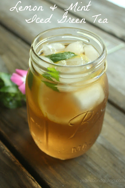 Lemon and Mint Iced Green Tea