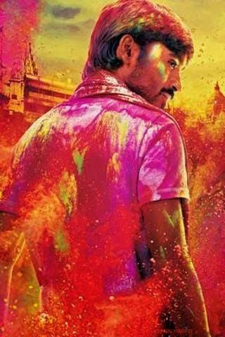 Actor Dhanush 320X480 Mobile Wallpaper