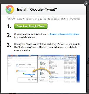 instal twitter in google plus