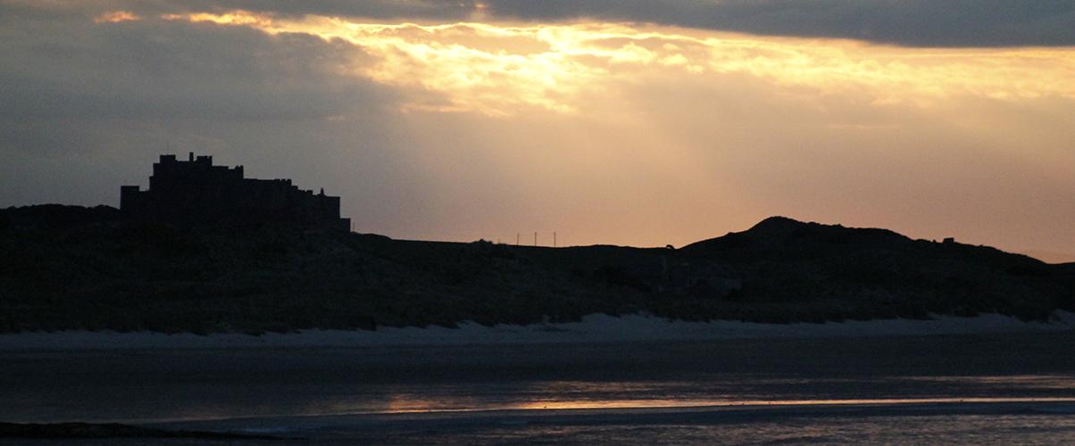 Sunset over Bamburgh Castle