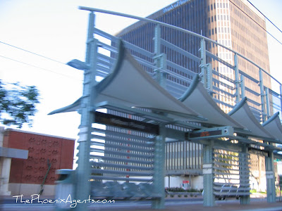 light rail station in midtown phoenix