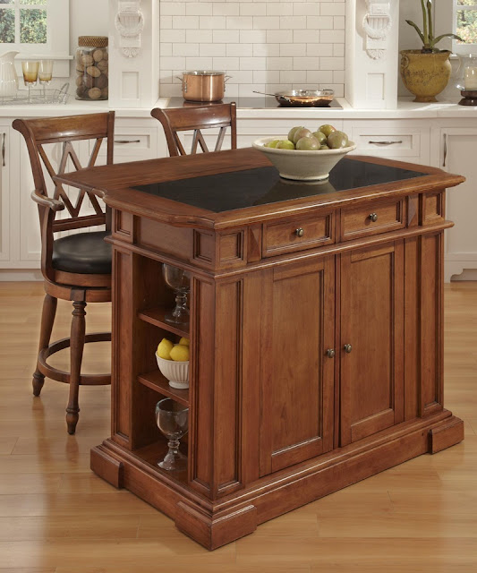 Home Styles Furniture Folding Home Bar Cabinet In Cottage Oak