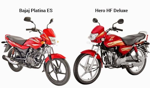 Hero HF Deluxe vs Bajaj Platina ES