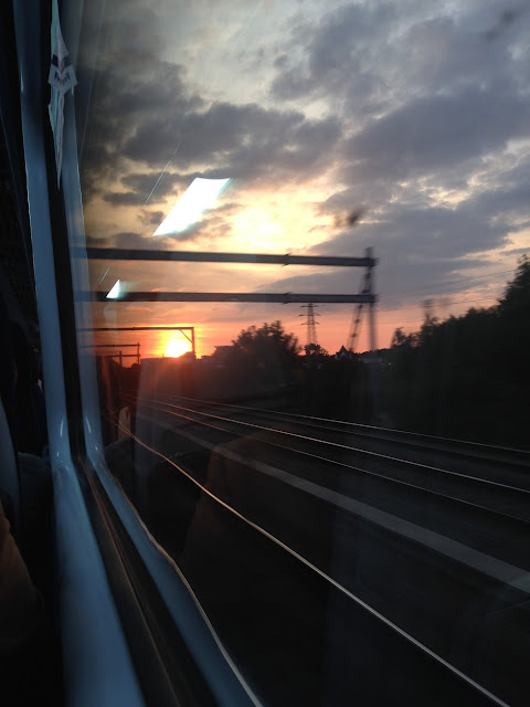 Sunset somewhere between London and Reading