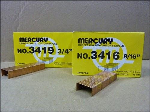 ลวดเย็บกล่อง Mercury (No.34)