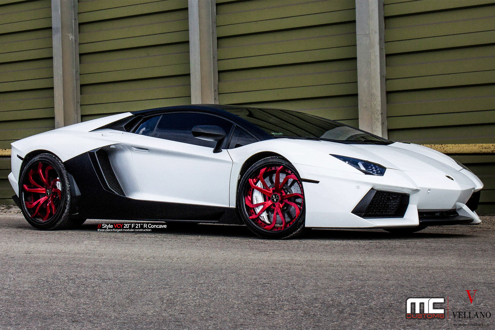 lamborghini aventador with red vellano wheels is a head scratcher. Black Bedroom Furniture Sets. Home Design Ideas