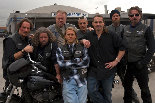 Jax Teller (Hunnam) is the blonde in the middle and the main character