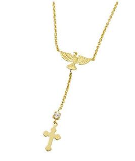 pingente cruz semi-joia