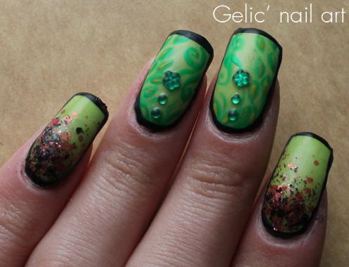 Gelic Nail Art Ncc Presents Poison Ivy Nail Art