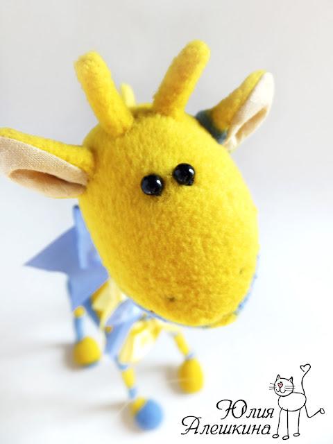 Жираф - игрушка - портрет